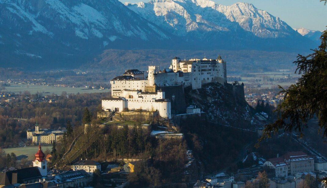 salzburg fortress on the hill