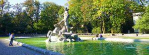 Alter Botanischer Garten mit Neptunbrunnen