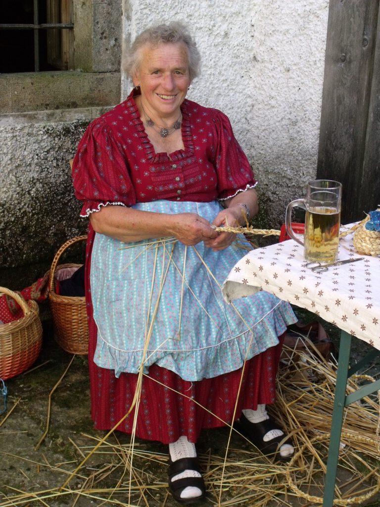 elder lady in dirndl