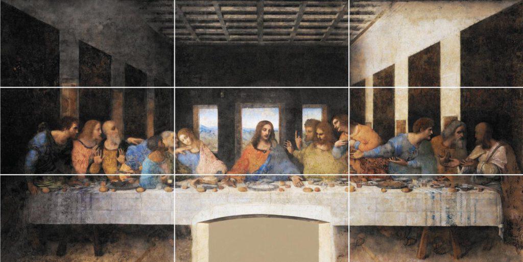 Famous painting - The Last Supper by Leonardo da Vinci:
