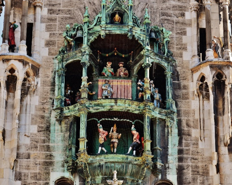 Famous carillon in Munich town hall