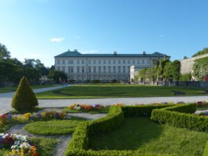 Mirabell Palace with garden in Salzburg