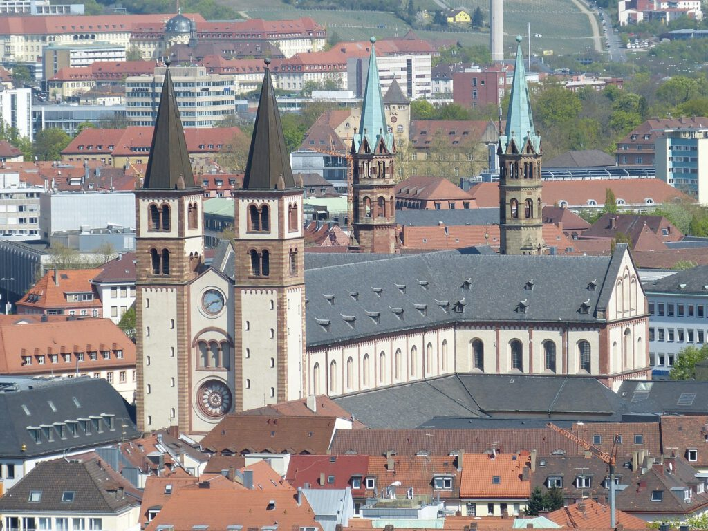 Würzburg Kilians Cathedral in Romanesque architectural style