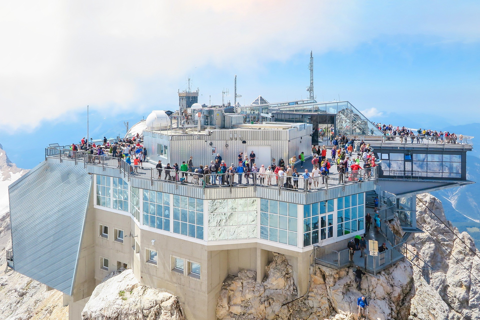 zugspitze mountain station with a wide view